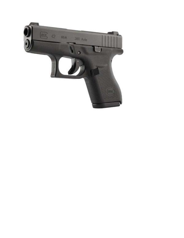 GLOCK 42  380ACP NIGHT SIGHTS 6-SHOT BLACK